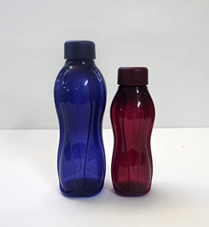 Tupperware to go Eco (2) 500 ml azul oscuro + 310 ml brombeer Agua