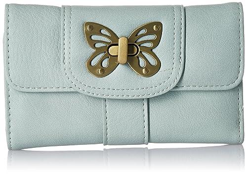 Accessorize - Cartera para mujer de Material Sintético Mujer, verde (verde), talla única: Amazon.es: Zapatos y complementos