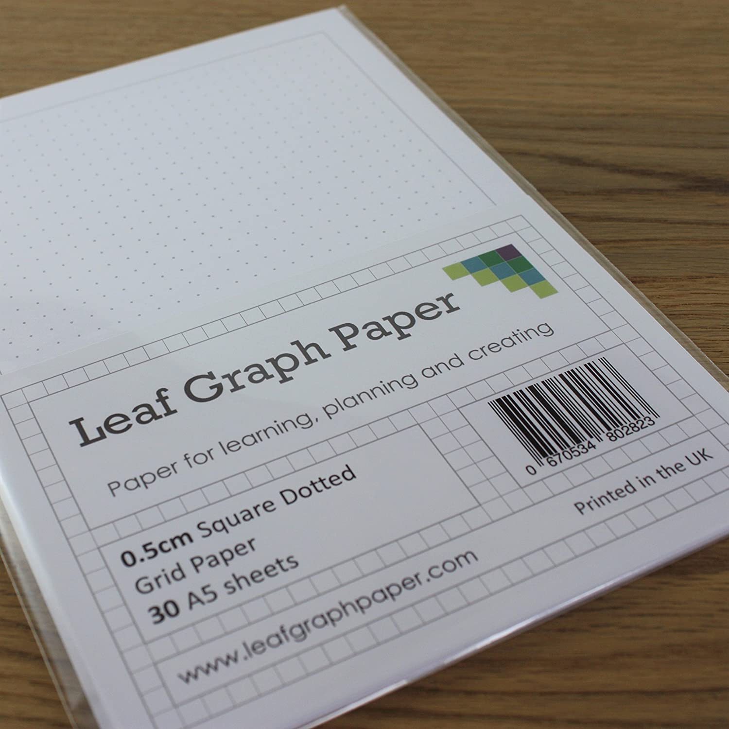 a5 square dotted grid 5mm 0 5cm graph paper 30 loose leaf sheets