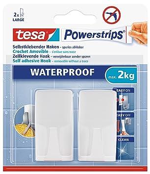 Tesa Haken Wasserfest Für Dusche Und Bad Weiß Durch Powerstips