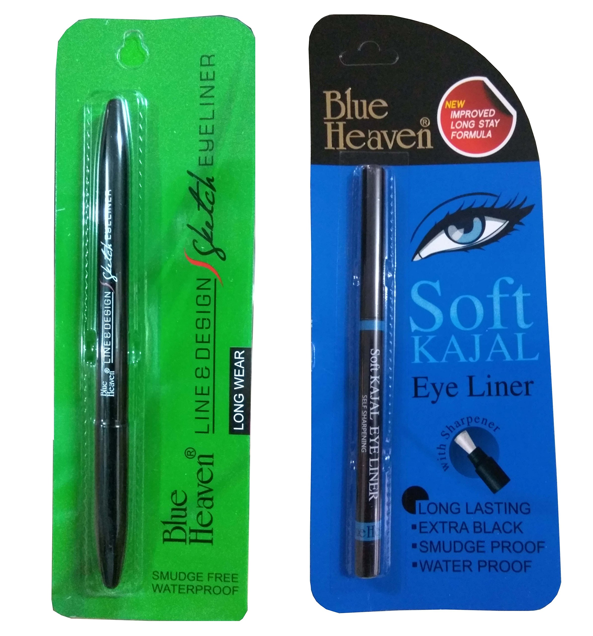 Blue Heaven Combo of (Line & Design Sketch Eyeliner) & (Soft kajal) product image