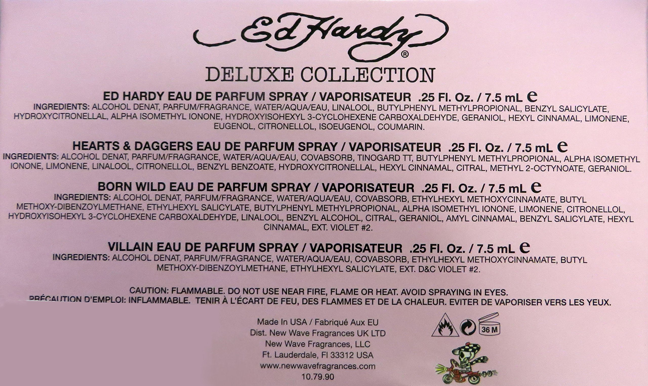 Ed Hardy by Christian Audigier Mini Variety Set for Women (Ed Hardy Classic, Hearts & Daggers, Skulls & Roses, Villain)