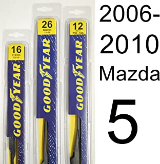 "product image for Mazda 5 (2006-2010) Wiper Blade Kit - Set Includes 26"" (Driver Side), 16"" (Passenger Side), 12A"" (Rear Blade) (3 Blades Total)"