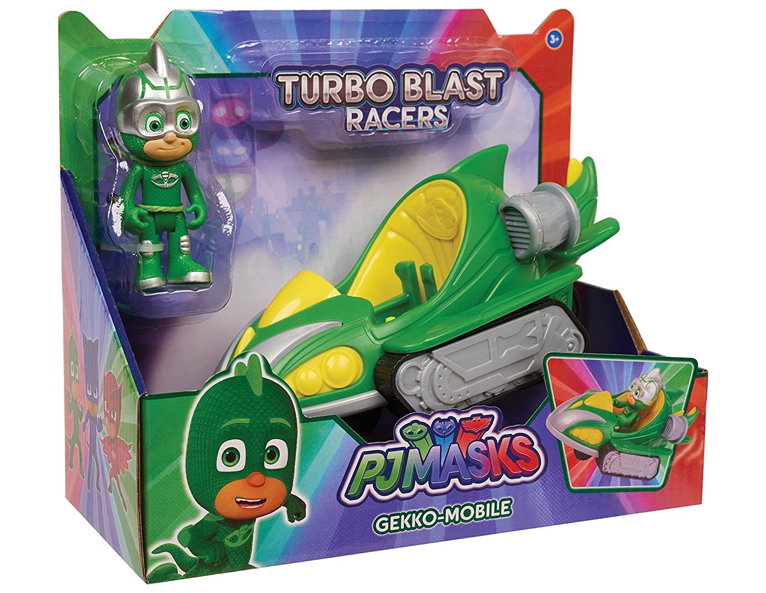 Just Play PJ Masks Turbo Blast Vehicles-Gekko Just Play - Import 24978