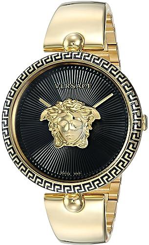 71a41d90294e Versace  Palazzo Empire de la Mujer y Casual de Acero Inoxidable Reloj de  Cuarzo Suizo