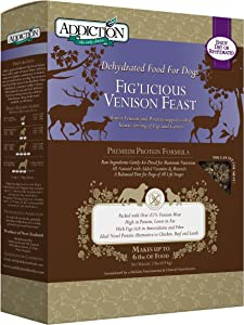 Addiction Grain Free Dehydrated Dog Food Venison & Fig