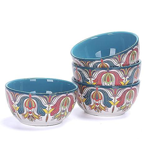 Amazon.com: Bico - Juego de 4 cuencos de cerámica para sopa ...