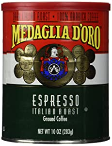 MEDAGLIA D'OROItalian Roast Espresso Ground Coffee, 10 Ounces