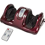 Best Choice Products Shiatsu Foot Massager Kneading and Rolling Leg Calf Ankle with Remote, Red Burgundy, 13.50 Pound