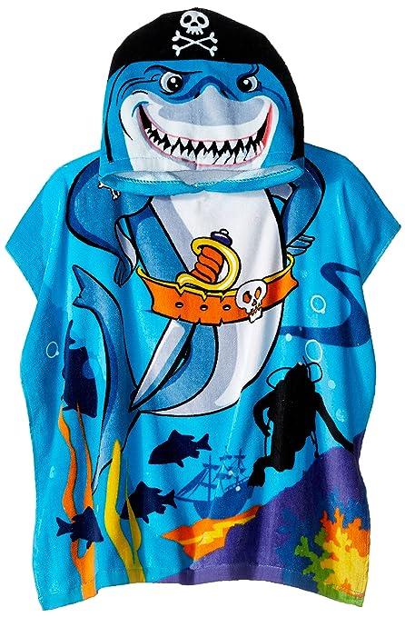 b2b4f45f84 Amazon.com: Northpoint Pirate Shark Kids Hooded Beach Towel, 24 x 48 Inch:  Home & Kitchen