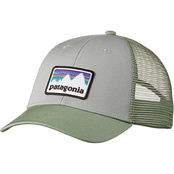 a10cd3ccc0b672 Patagonia Shop Sticker Patch LoPro Trucker Hat One Size Fits All Cap -  38182 DGMG (Drifter Grey/Matcha Green): Amazon.co.uk: Clothing