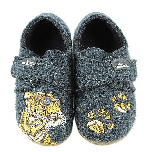 Living Kitzbühel Klettmodell Tiger Mit Brille, Zapatillas de Estar por Casa para Niños: Amazon.es: Zapatos y complementos