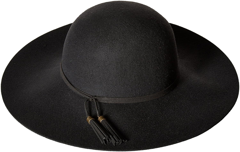 ddb2f1a39431 Nine West Women's Felt Floppy Hat with Tassel Detail Black One Size ...