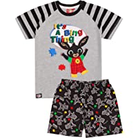 Cbeebies Bing Pyjamas Boys Kids Bunny Character T-Shirt Shorts PJs Set