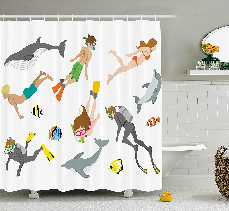 Amazon Modern Decor Shower Curtain by Ambesonne Modern