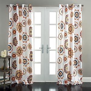 "Lush Decor Adrianne Window Curtain Panel (Set of 2), 84"" x 52"", White"