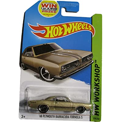 Hot Wheels 2014 HW Workshop '68 Plymouth Barracuda Formula S 239/250, Tan: Toys & Games