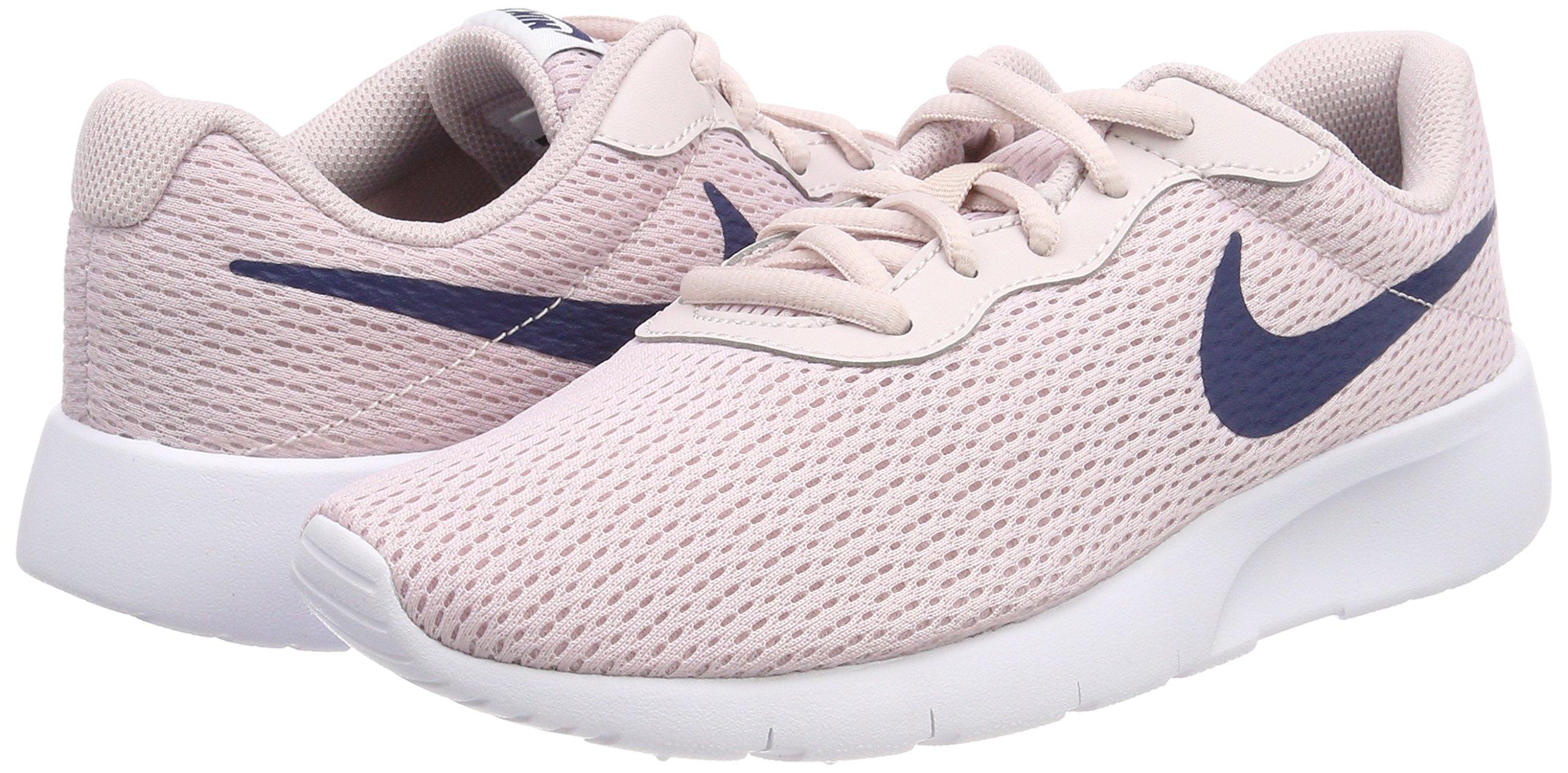 Nike Girl's Tanjun Shoe Barely Rose/Navy/White Size 4 M US by Nike (Image #5)