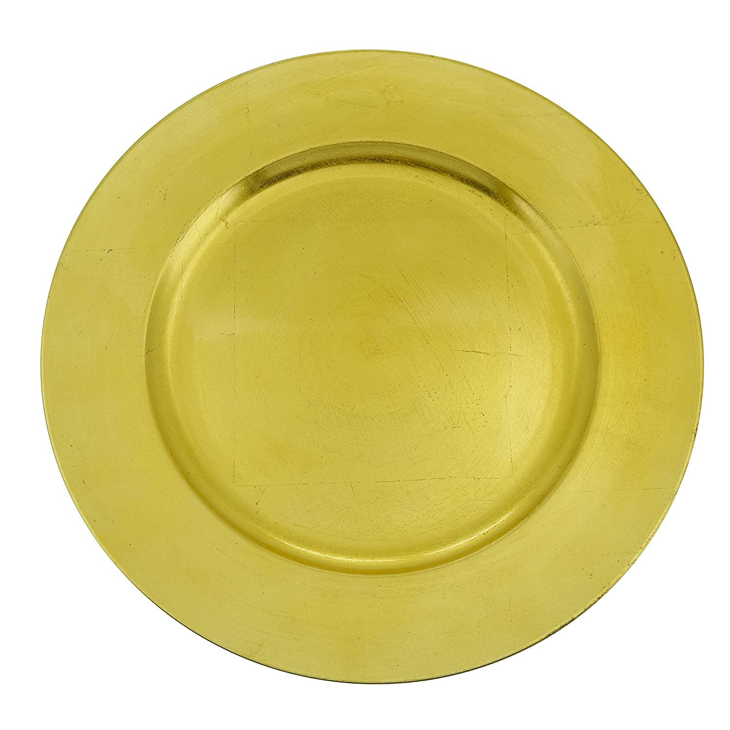SARO LIFESTYLE CH001.CS13R Classic Design Charger Plate, Chartreuse, 13