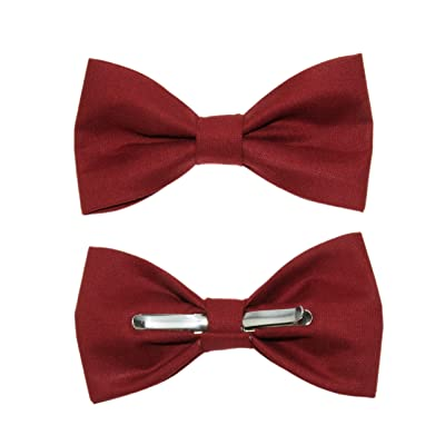 amy2004marie Toddler Boy 3T 4T Brick Red Clip On Cotton Bow Tie
