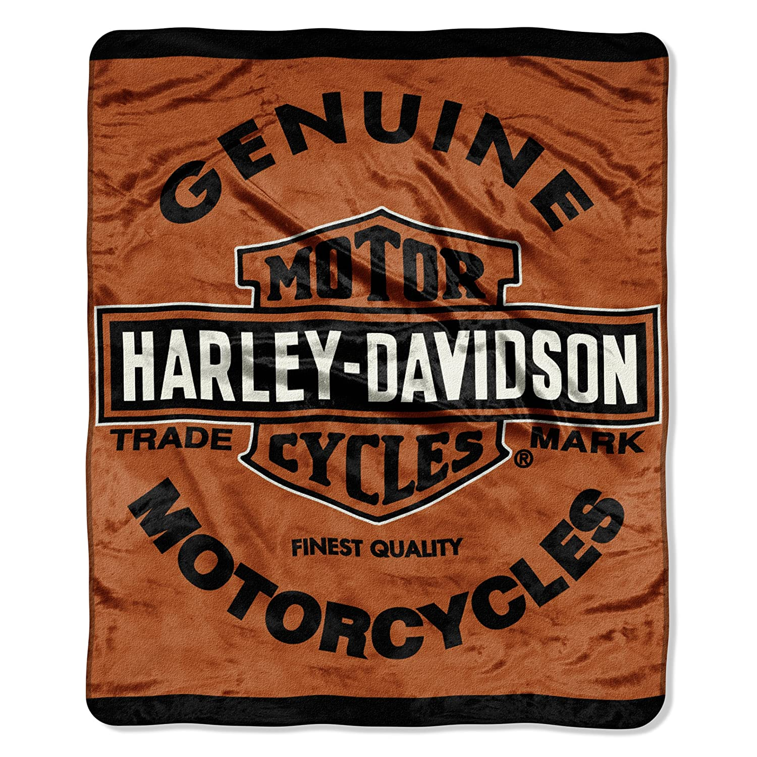 Harley Davidson, Genuine 46-Inch-by-60-Inch Micro-Raschel Blanket by The Northwest Company