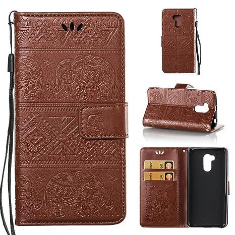 Funda Xiaomi Redmi 4 Pro, CaseLover Piel Libro Cuero Elefante Impresión Carcasa para Redmi 4 Pro con TPU Silicona Case Cover Interna Suave Flip Folio ...