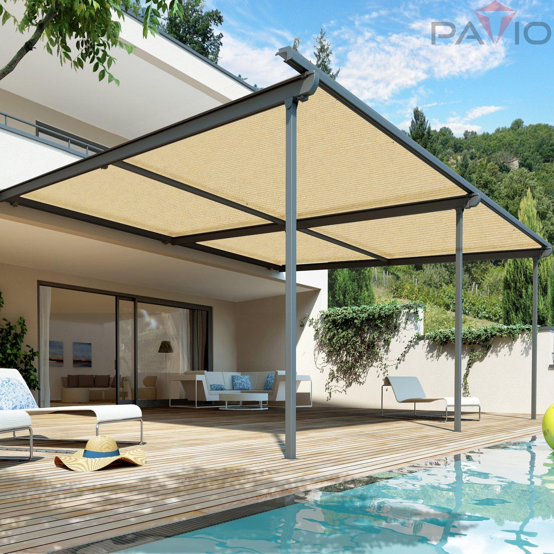 Amazon Patio 24 x 2 Sunblock Shade Cloth Roll Beige Sun