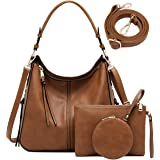 Hobo Bags for Women Handbags Purses Vegan Leather Ladies Shoulder Bag Boho Women's Handbag 3PCS