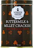 Monsoon Harvest: Buttermilk & Millet Crisp Baked Crackers - Cracked Black Pepper, 100 grams