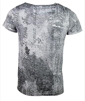 1503be6108fefe Herren T-Shirt - Skull Time - Totenkopf Uhr - mit Strass Steinen - schwarz weiß  (S)  Amazon.de  Bekleidung