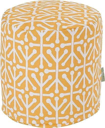Majestic Home Goods Citrus Aruba Indoor Outdoor Bean Bag Ottoman Pouf 16 L x 16 W x 17 H
