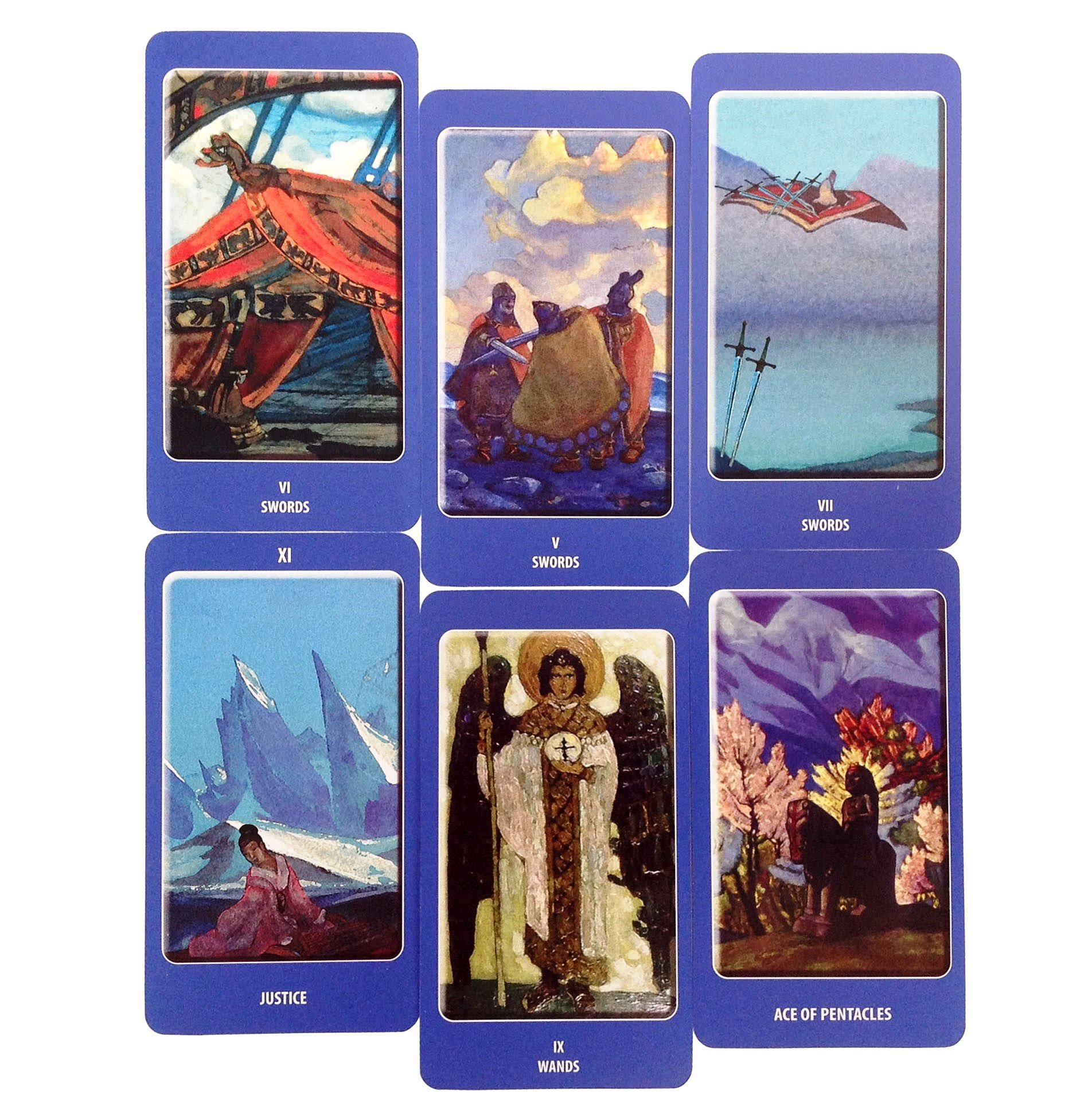 A Deeply Spiritual Tarot Deck. Agni ROERICH Tarot, English Edition. Set of 78 Cards Based on Paintings by Nicholas Roerich. A Unique Tarot Cards Deck, a Pathway to Tarot Symbolism and Meaning by Deluxe Cards (Image #7)