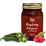 Green Jay Gourmet Raspberry Jalapeno Jam - All-Natural Raspberry Jam with Red Raspberries, Jalapeno Peppers & Lemon Juice - Vegan, Gluten-free Jam with No Preservatives - Made in USA - 20 Ounces