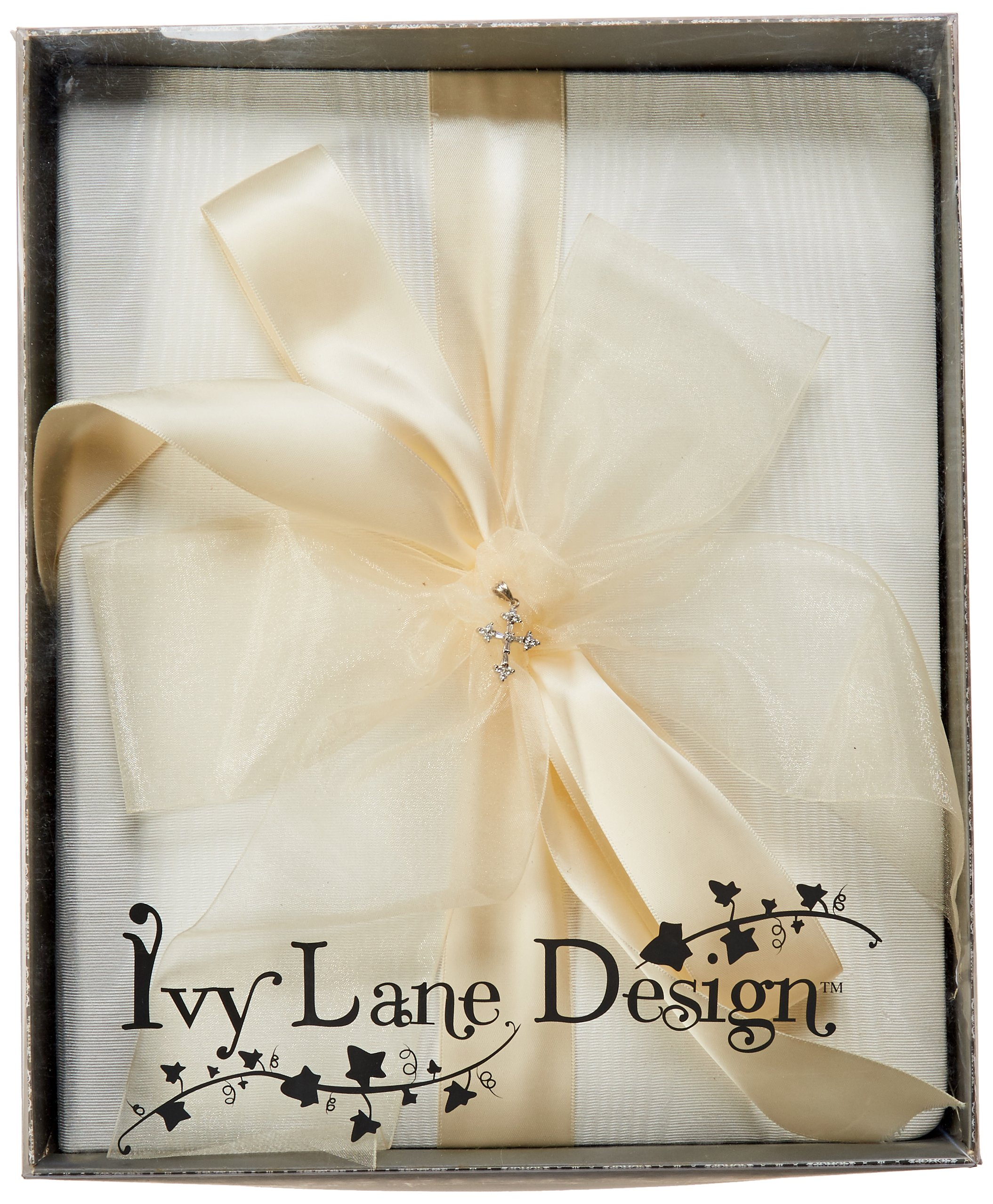 Beverly Clark Collection Grace, Memory Book with Crystal Cross, Ivory by Ivy Lane Designs (Image #5)