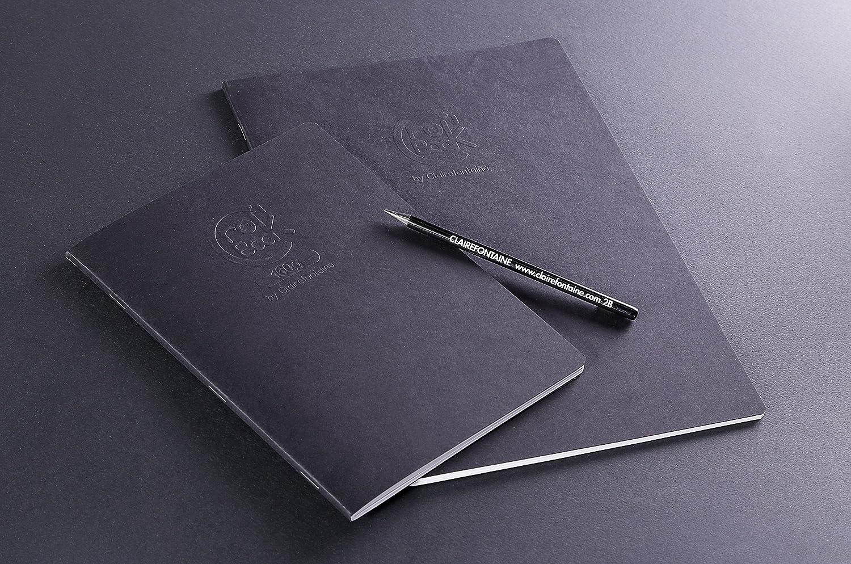 Clairefontaine 60315C CroKBooK Cahier piq/ûre 20 feuilles 17 x 22 cm 120 g Couverture Noir