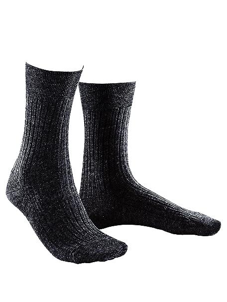 Blanco BACHMANN Hombre 6 unidades calcetines acanalados lana virgen negro 40-41