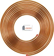 Visiaro SCC1l4X1l3P1 Soft Pipe/Tube Pancake Coil, Outer Diameter - 1/4 inch (6.35mm) and Wall Thickness -25 swg, Copper