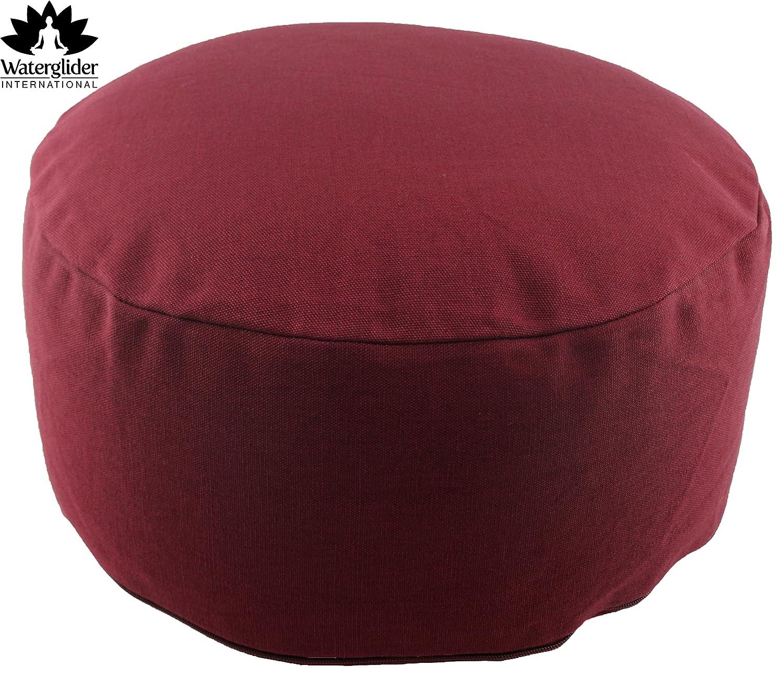 Amazon.com : Zafu Organic Cotton with USA Grown Buckwheat Hulls Meditation  Pillow: Rondo Style with Liner- 6 Colors : Sports & Outdoors - Amazon.com : Zafu Organic Cotton With USA Grown Buckwheat Hulls
