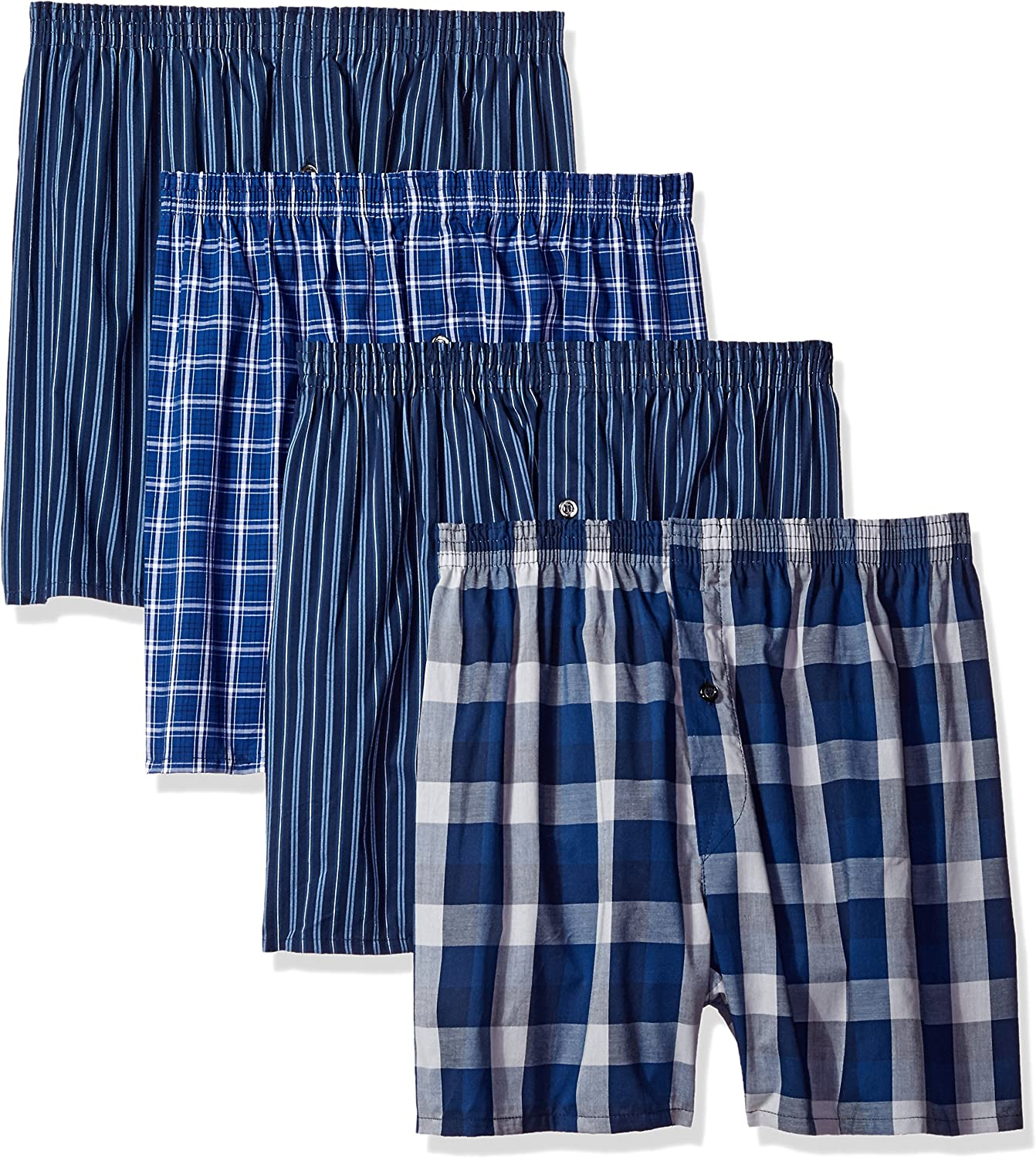 Fruit of the Loom Mens Premium Woven Boxer 4 Pack Boxer Shorts