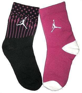 Jordan - Calcetines para niña (talla 5Y-7Y/9-11, 2 unidades): Amazon.es: Hogar