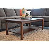 Solid Wood Rustic Coffee table - Distressed Finish - Bronze Coast Collection - Living Room Furniture