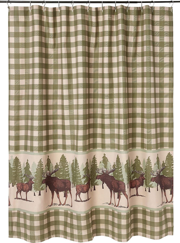 Greenland Home Moose Creek Shower Curtain, 72x72-inch, Multi,GL-1809ASHW