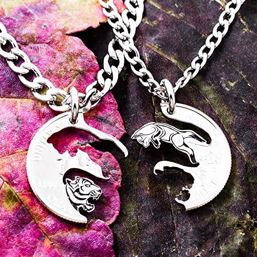 Handmade necklace one of a kind jewelry coin jewelry coin ring with the couple coin medallion