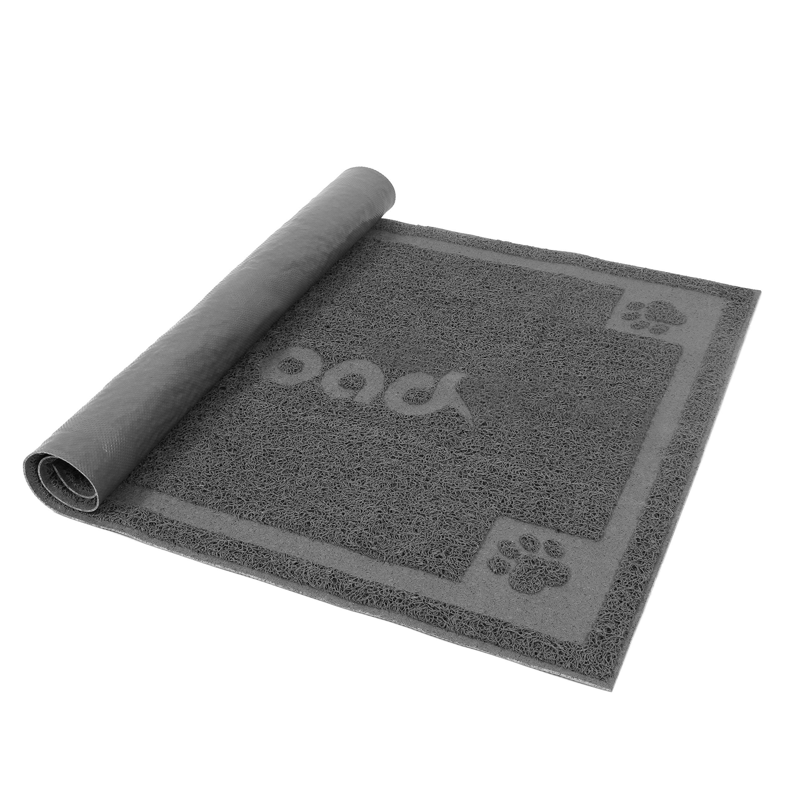 Petroad Cat Litter Mat Washable Non Slip Animal Mat for Floors ProtectionPVC ...