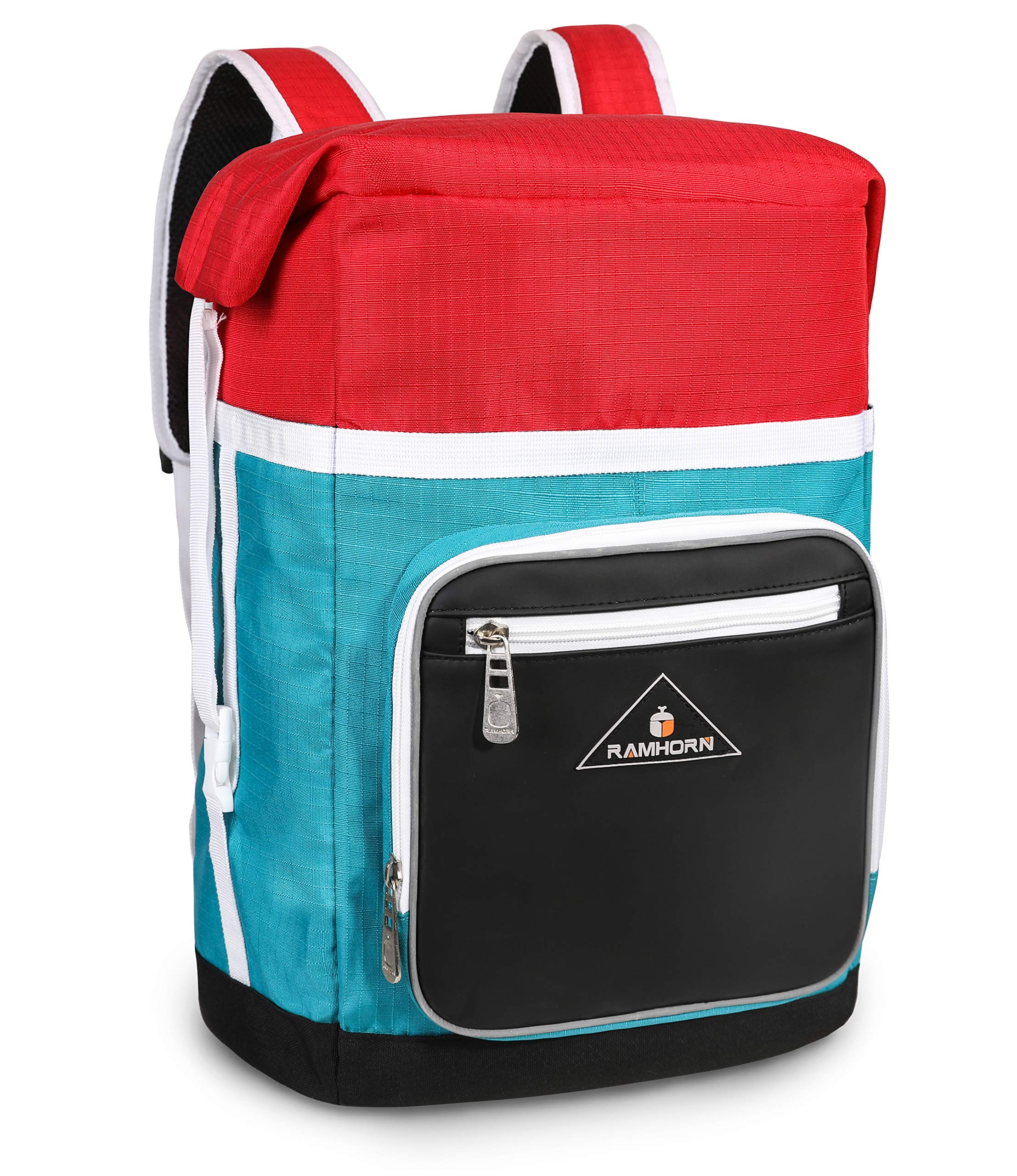 Casual Backpack Multipurpose Daypack Classic School Backpack Slim Lightweight Large Capacity Travel Laptop Bag for Men,Women, Teenagers, Student, Kids, by Ramhorn(Red and Blue))