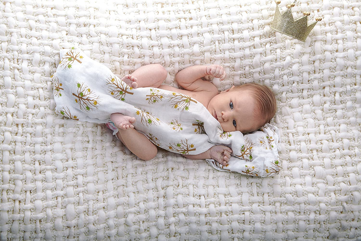 Baby Swaddling Blankets 100/% Organic SILKY SOFT Muslin Cotton Bamboo For Boys /& Girls Exclusive Prints Golden Arrow Head /& Pattern Unique Gift Box Unisex Adam /& Elsa 2 Pack Oversized