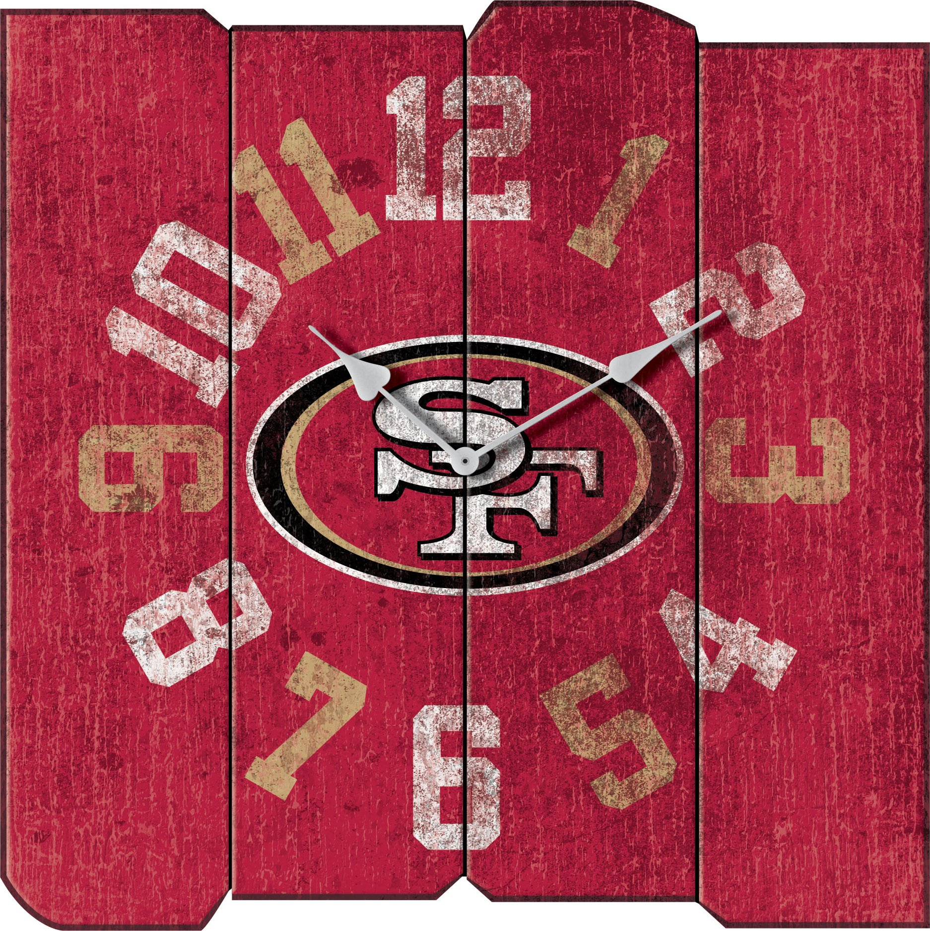 Imperial Officially Licensed NFL Merchandise: Vintage Square Clock, San Francisco 49ers by Imperial