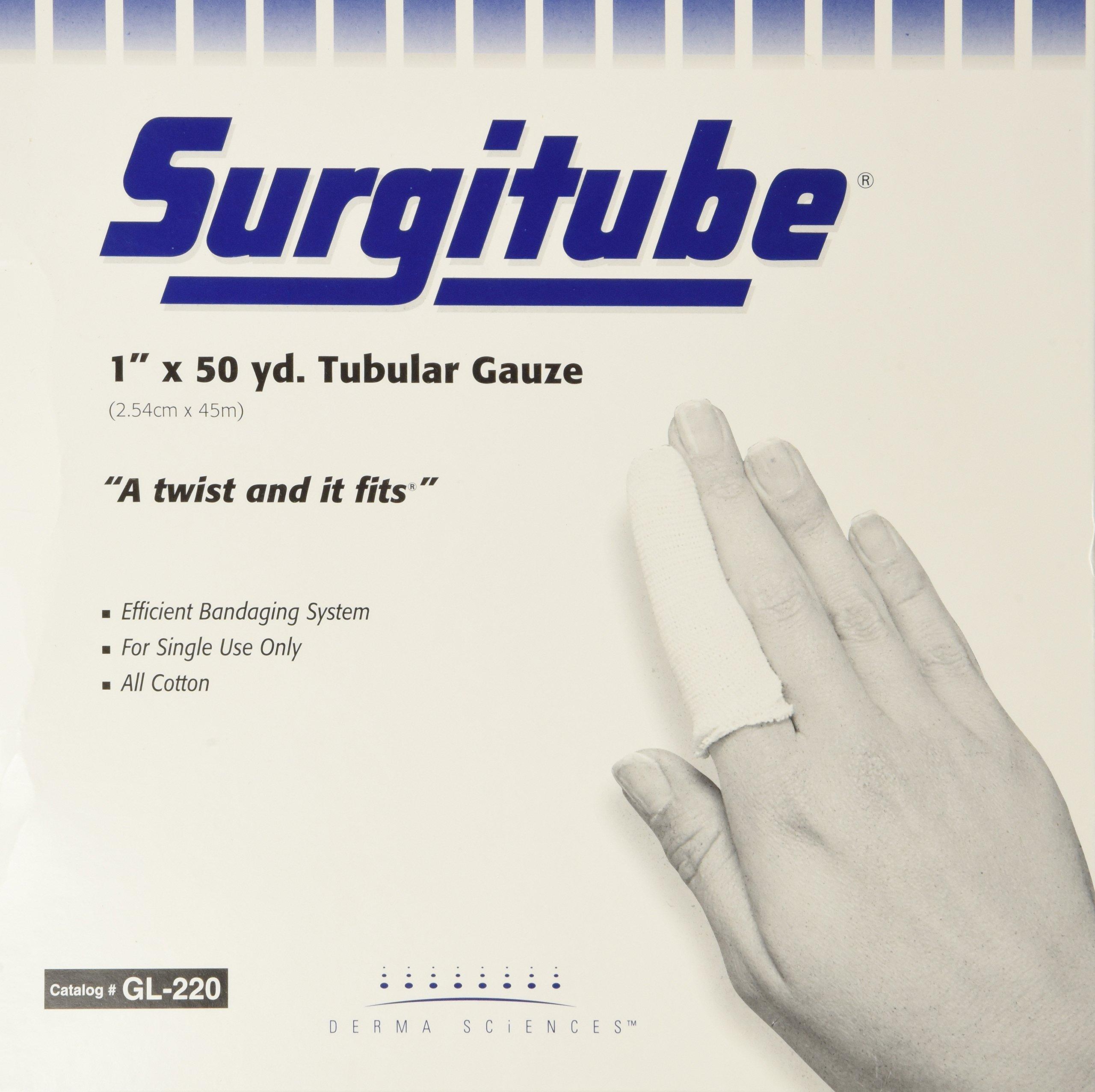 Surgitube Tubular Gauze, White, 1'' x 50 yds, Each