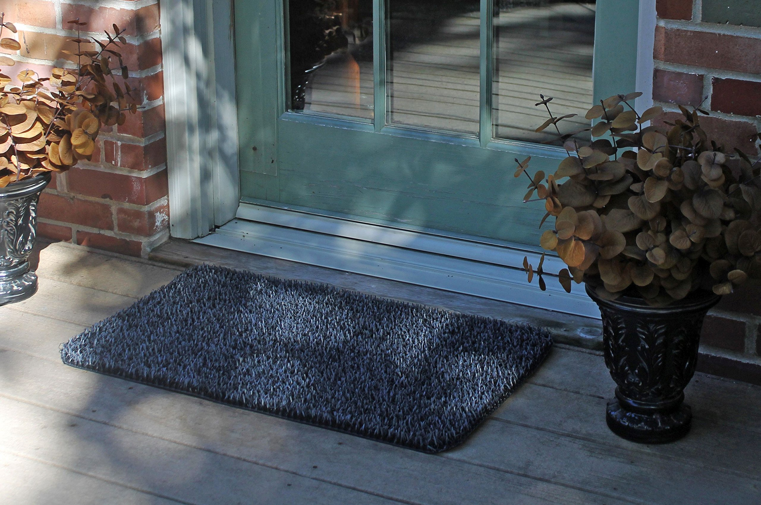 Grassworx Clean Machine High Traffic Doormat, 18'' x 30'', Charcoal (10376337)