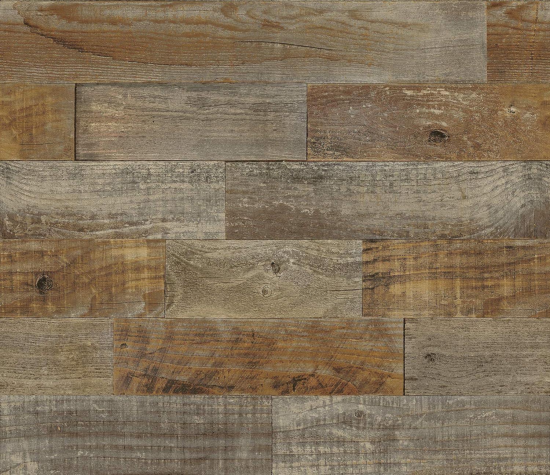 - Brewster BHF3045 Farm Wood Peel & Stick Backsplash Tiles, Brown